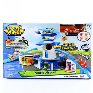 World Airport Toy Playset Includes Jett and Donnie Figures Super Wings