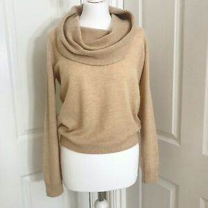 LADIES M/&S CLASSIC SIZE 20 OR 22 LIGHT TAN SOFT TURTLE NECK JUMPER FREE POST
