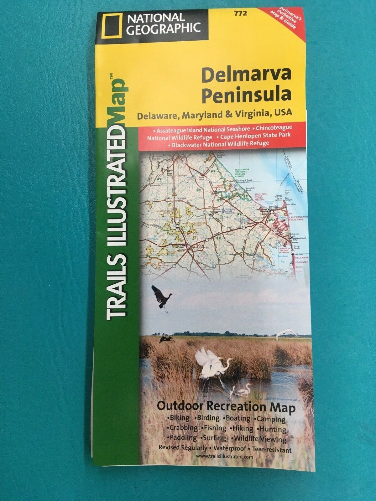 National Geographic Trails Illustrated Map: Delmarva Peninsula ... on