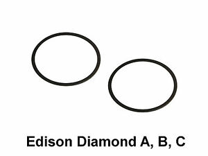 Edison Amberola Diamond A, B, C (4 minute) Reproducer Diaphragm Gaskets ONLY