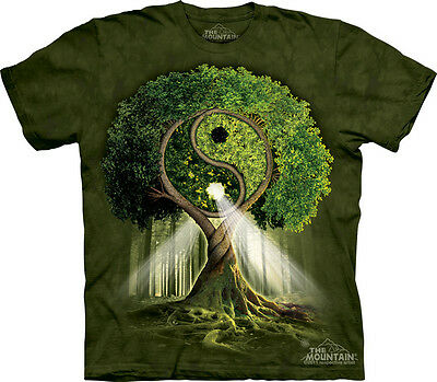 Yin Yang Tree The Mountain Adult and Child T-Shirts