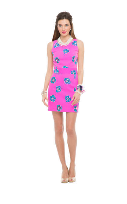 NWT Lilly Pulitzer Kirkland Dress Size 10 in Mambo Pink of Courage