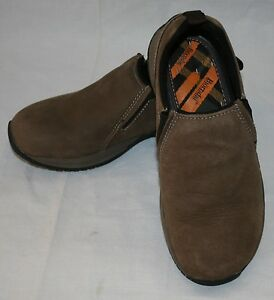 bjorndal brown leather slip on shoes mens 8 colorado casual