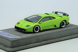 1-43-Looksmart-Lamborghini-Diablo-GT-Lime-Green-Free-Shipping