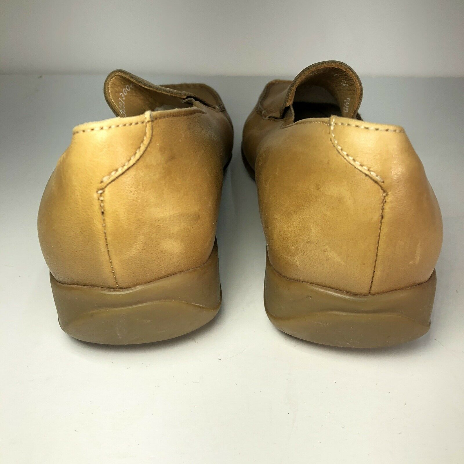 Mephisto Tan Leather Square Slip On Womens Flats … - image 7