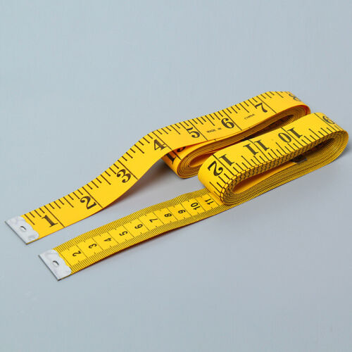 """120/""""//300cm Body Measuring Ruler Sewing Cloth Tailor Tape Measure Soft Flat"""