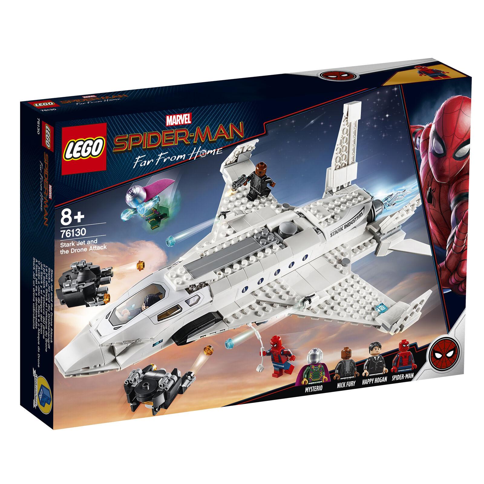 76130  LEGO MARVEL SUPER HEROES estrellaK JET & L'ATTACCO DEI DRONI SPIDER-uomo 504pcs  varie dimensioni