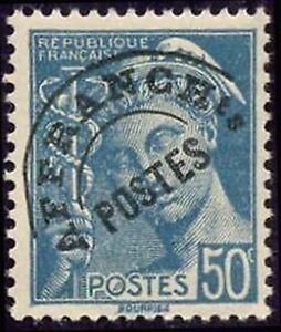 """France Preoblitere Timbre Stamp N° 82 """" Type Mercure 50c Turquoise """" Neuf (x) Tb Fixation Des Prix En Fonction De La Qualité Des Produits"""