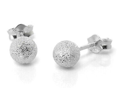 STERLING SILVER ANDRALOK BALL STUDS ROUND EARRINGS 3 4 5 6MM BEAD GIFT BOX