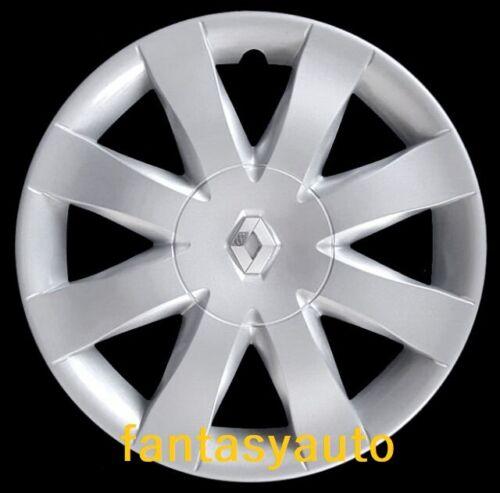"""Compatibilità Renault Clio Modus Coppa Ruota Borchia 15/"""" Logo Cromato 5751//5LC"""