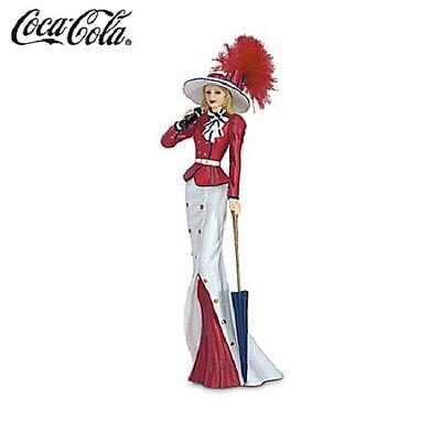 Deliciously Refreshing Coca Cola Lady Figurine - Stylish World Tour with Coke