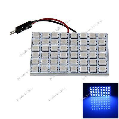 1pcs Blue 48 5050 SMD LED Festoon Dome/Door/Box Light Panel Interior Bulb J008