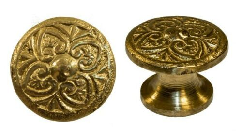 cast brass decorative cupboard cabinet knob 319219 for bin pulls