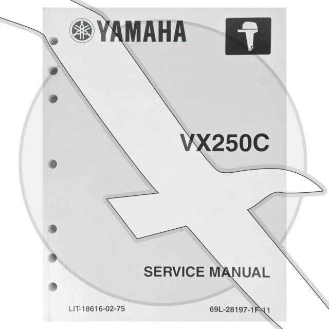 Yamaha Marine Outboard Vx250 Service Repair Factory Shop