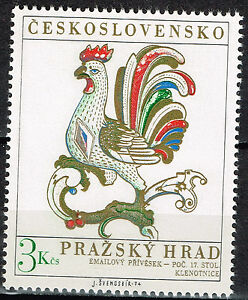 Image Is Loading Czech Prague King 039 S Palace Rooster Stamp