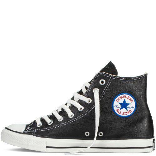 Converse Chuck Taylor All-Star Piel Hi Negro Zapatillas 1S581