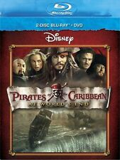 Disney Pirates of The Caribbean at Worlds End Blu Ray and DVD 3 Disc