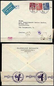 362-Danimarca-Busta-via-aerea-per-Milano-24-10-1941