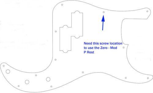 Zero-Mod PB1v2-CL Thumb Rest Tug Bar for Fender Precision Bass NO Mods NO Holes!
