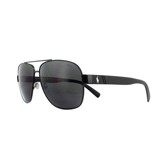 52709796d18 Polo Ralph Lauren Sunglasses Ph3110 926787 Semi Shiny Black Dark Grey