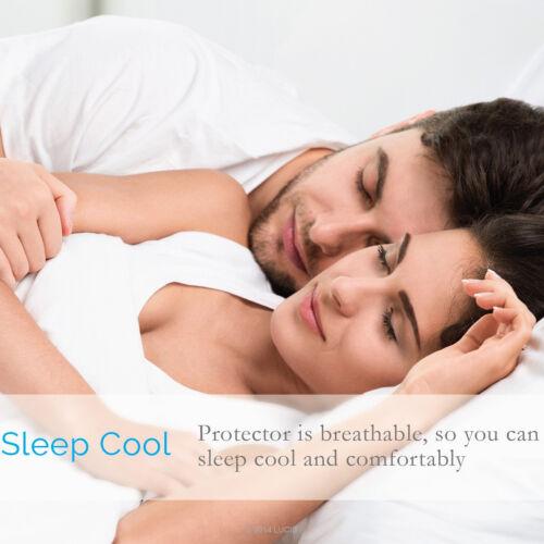 Deep Pocket Mattress Protector Waterproof Pad Hypoallergenic Terry Bed Cover
