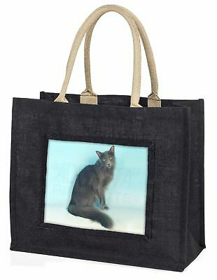 silbergrau Javanese Katze große schwarze Einkaufstasche Weihnachtsgeschenk I,