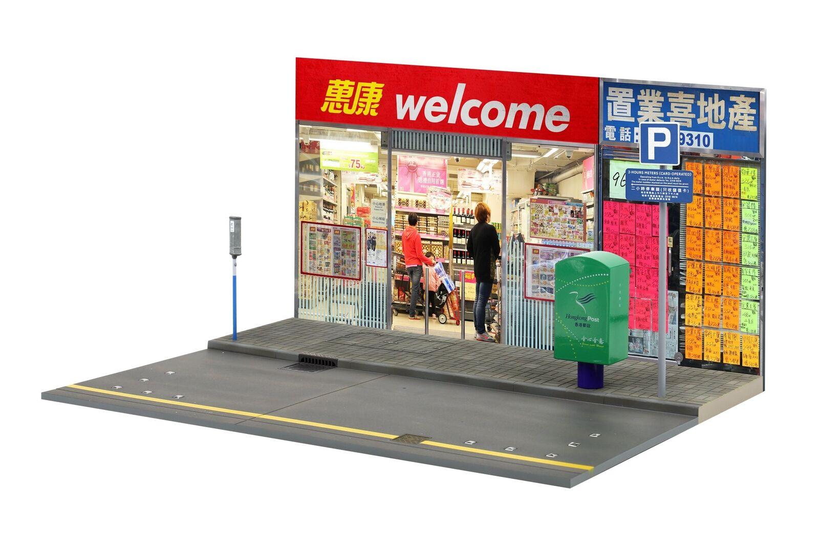 Tiny CITY HK  S8 parcheggio Negozio Diorama scala scala scala Set 1 18 (NO figure e auto incluso) 510366
