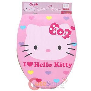 a2230f73c Sanrio Hello Kitty Pink Face Toilet Seat Cover Dual Face Design ...