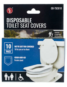 Details About 120 Pack Disposable Toilet Seat Covers For Travel Camping School Work Office