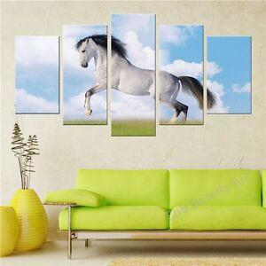 5-Modern-printed-horse-painting-canvas-poster-wall-print-decoration