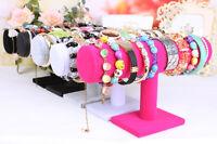 Velvet T-Bar Jewelry Rack Bracelet Necklace Stand Organizer Holder Display Gifts