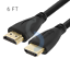 PREMIUM-HDMI-CABLE-6FT-For-BLURAY-3D-DVD-PS3-HDTV-XBOX-LCD-HD-TV-1080P thumbnail 1