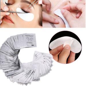 50-Paar-100-Stueck-Augenpads-Wimpernverlaengerung-Gel-Pads-Eyepads-fusselfrei