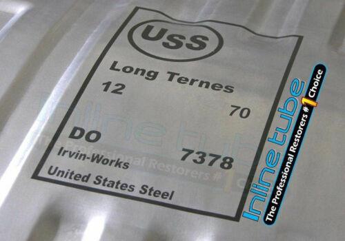 1966 USS United States Steel Gas Fuel Tank Stencil Logo GM Chrysler Mopar Ford