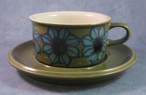 ARABIA-OF-FINLAND-Vintage-Hand-Painted-Tea-Cup-amp-Saucer-Excellent-Condition