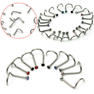 10pcs-Stainless-Steel-Twist-Screw-Nose-Nostril-Rings-Bar-Studs-Piercing-Jewelry