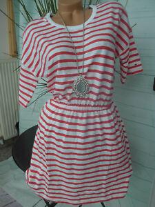 promo code a606a 2b5f3 Details zu Tommy Hilfiger Damen Kleid Sommerkleid Gr. M rot weiß gestreift  (842)