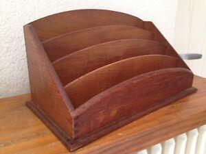 Range courrier bois 4 compartiments porte lettre art Porte courrier