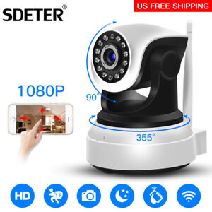 Video Surveillance Security & Protection Hjt Audio H.264 1080p Full-hd Wireless Wifi Ptz Ip Camera Cctv Cam 2.0mp Baby Care Security Fish Eye Wide Angles Sd Storage