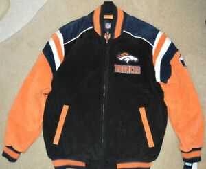 9e3f76378 NFL TEAM APPAREL OFFICIAL GIII DENVER BRONCOS SUEDE LEATHER JACKET ...
