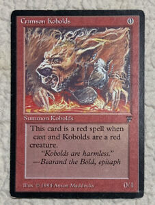 Crimson Kobolds MP 1994 Legends Original Mtg Magic the Gathering