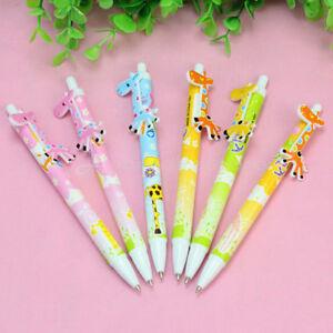 6pcs-Cute-Cartoon-Giraffe-Ball-Pens-Blue-Ink-Kids-Toy-School-Office-Stationary