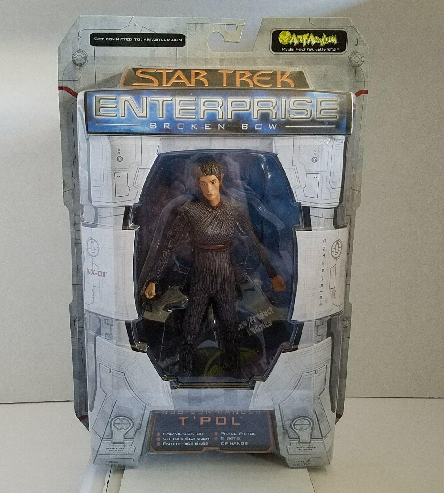 Art Asylum Star Trek Enterprise Broken Bow Sub Commander Commander Commander T'Pol Action Figure 72fa5e