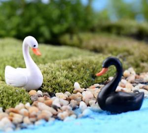 Mini Swan Figurine Fairy Garden Ornaments Crafts Goose Model Miniature Animal