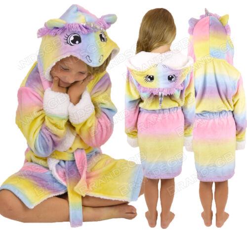 Le Ragazze Per Bambini Soft /& COSY Unicorno Vestaglia twosie Pigiama Età 5-13 anni
