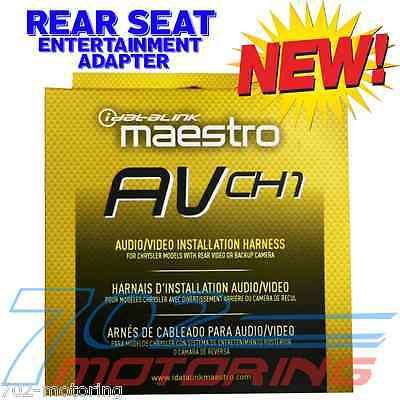 MAESTRO iDATALINK ADS-HRN(AV)-CHR01 AVCH1 INTEGRATION 2 REAR SEAT ENTERTAINMENT