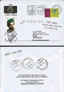"Pe472 Fdc Council Of Europe Afghanistan"" 2001 To Adopt Advanced Technology Afghanistan ""commandant Massoud"