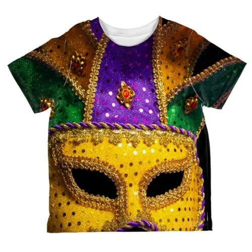 Mardi Gras Large Costume Mask All Over Toddler T Shirt