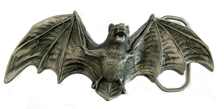 Vtg Large Bat Belt Buckle Scary Dracula Flying Wings Horror 3D Animal Gift Idea