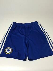 Enfants-Garcons-Adidas-Chelsea-FC-Bleu-amp-Blanc-Football-Shorts-Age-11-12-ans